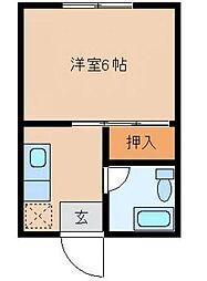 宮崎県宮崎市大工の賃貸アパートの間取り