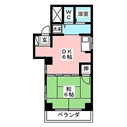 サンライスマンション[4階]の間取り