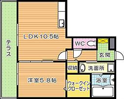 リアンドファミーユ A棟[1階]の間取り