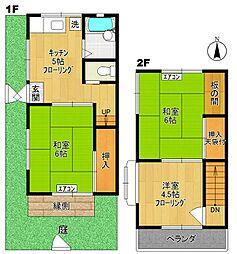 [テラスハウス] 神奈川県川崎市多摩区菅野戸呂 の賃貸【/】の間取り