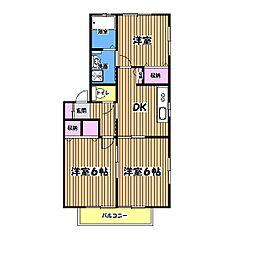 ミラコスタC[2階]の間取り
