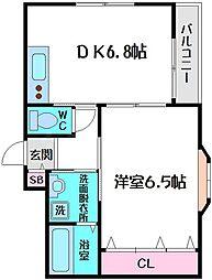 ラフォーレ千林II[2階]の間取り