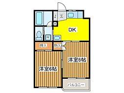マンションえびす[3階]の間取り