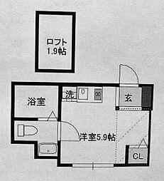 プランドール三ッ沢[2階]の間取り