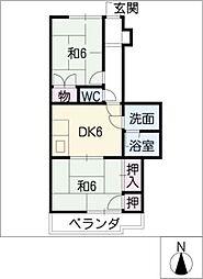エクセル伏屋[1階]の間取り