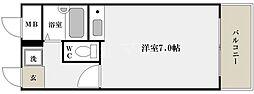 桜川レヂデンス[6階]の間取り