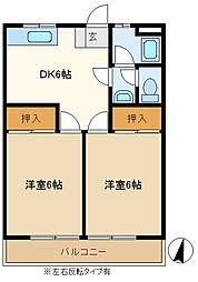 山口マンション 303[3階]の間取り