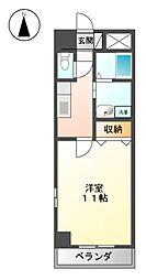 コ−トモ−リス新道[9階]の間取り