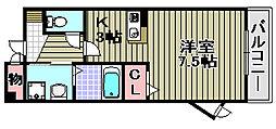 グレース三田[107号室]の間取り
