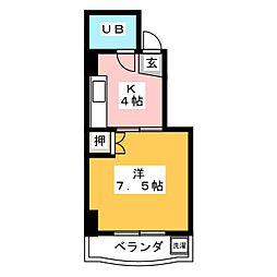 コーポABC[1階]の間取り