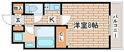 兵庫県神戸市長田区菅原通5丁目の賃貸マンションの間取り