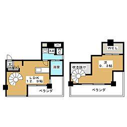 愛知県名古屋市北区大曽根3丁目の賃貸マンションの間取り