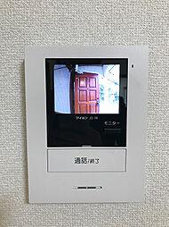 来客者の顔が見れるTVモニターフォン。