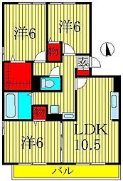 リビングタウン南青山A[A301号室]の間取り