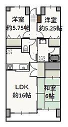 岡山県岡山市北区神田町1丁目の賃貸マンションの間取り
