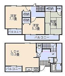 [一戸建] 広島県広島市安佐南区東原3丁目 の賃貸【/】の間取り
