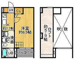 サクシード長洲東[0102号室]の間取り