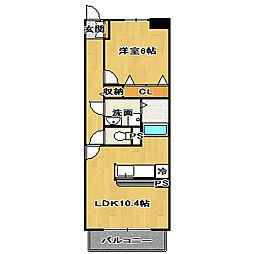 フローラムレーン[2階]の間取り