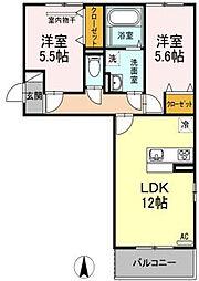 アスターエイトA棟[2階]の間取り