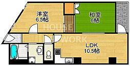 京福修学院マンション[610号室号室]の間取り