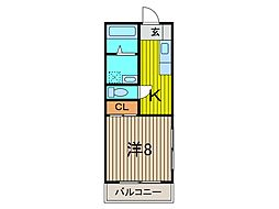 ハイツ川島[106号室]の間取り