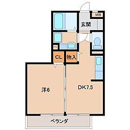 リビングタウンなごみ(F棟)[3階]の間取り