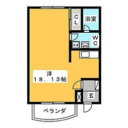ドムス・ミネルヴァ[2階]の間取り