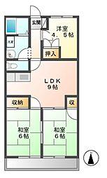 ぴあ21[3階]の間取り