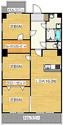 アルページュ太宰府[502号室]の間取り