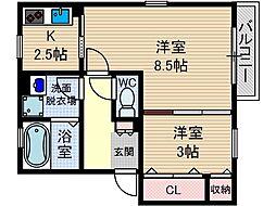 リンデンバウム D棟[2階]の間取り