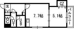 Vertical 18(バーティカル18)[00302号室]の間取り