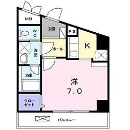 神奈川県川崎市宮前区馬絹5丁目の賃貸マンションの間取り