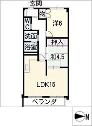 坂田ハイツ[4階]の間取り