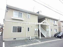 岡山県岡山市北区十日市西町の賃貸アパートの外観