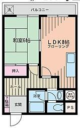 神奈川県横浜市南区榎町2丁目の賃貸マンションの間取り