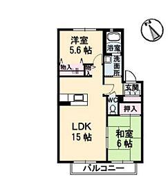 カーサミヤケ[2階]の間取り