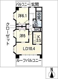 みそのマンション天塚[4階]の間取り