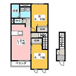 フェリーチェ(Felice)[2階]の間取り