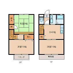 [テラスハウス] 静岡県静岡市葵区安東1丁目 の賃貸【/】の間取り