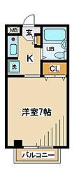 コーポ稲村[1階]の間取り