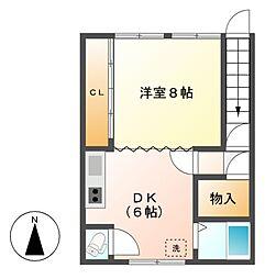 泉一丁目住居[2階]の間取り
