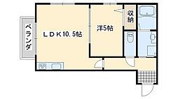 関空アスカ[203号室]の間取り