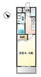 愛知県清須市朝日天王の賃貸マンションの間取り