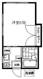 第2穂吹荘[1号室号室]の間取り