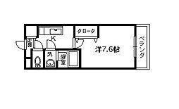 エクセレント浜寺[206号室]の間取り