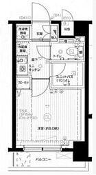 東京都大田区鵜の木2の賃貸マンションの間取り