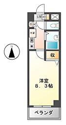HOMES伊勢山[8階]の間取り