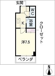イーストアサノ[4階]の間取り