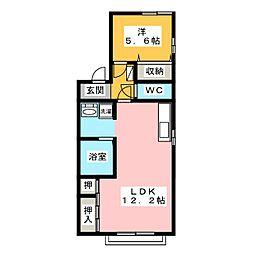 Kグレース[1階]の間取り