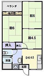 サンスカイまことマンション[208号室]の間取り